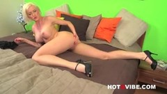 Victoria waigel, busty big tit blonde pornstar strips Thumb