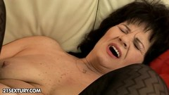 Horny grandpa hot for hairy granny Helena May Thumb