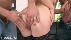 Brunette Tiffany Doll gets screwed hard by two studs Thumb