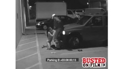 Parking lot blowjob for the security guard Thumb