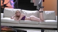 Alexis texas poses on the couch Thumb