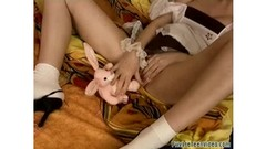 Teen fucks bunny and cock in free movie Thumb