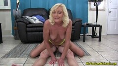 Hot Mommy Gets Her Son Off with Her ASS and PUSSY Thumb
