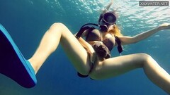 Hottest underwater sea erotic movements of Kasandra Lufi Thumb