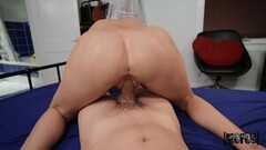 Quinn Waters getting her shaved pussy fucked hard by Johnny Thumb